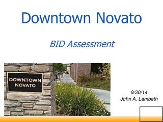 Downtown Novato BID Assessment