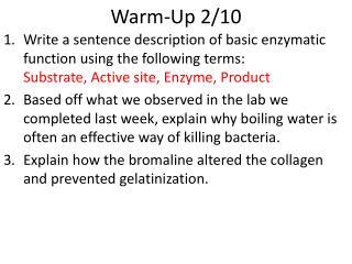 Warm-Up 2/10