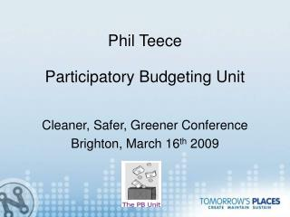 Phil Teece Participatory Budgeting Unit