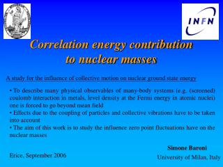 Correlation energy contribution to nuclear masses