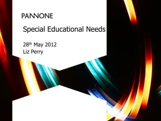 Special Educational Needs 28 th May 2012 Liz Perry