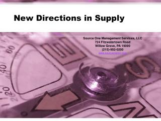 New Directions in Supply