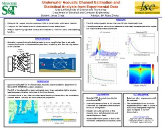 Underwater Acoustic Channel Estimation and Statistical Analysis from Experimental Data