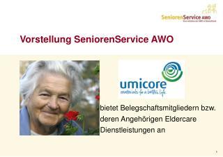 Vorstellung SeniorenService AWO