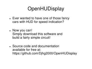OpenHUDisplay