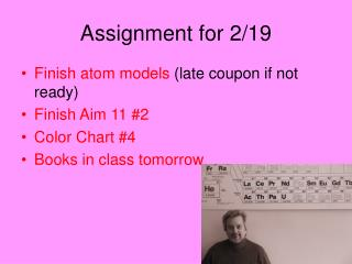 Assignment for 2/19