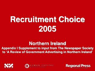Recruitment Choice 2005