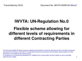 IWVTA: UN-Regulation No.0