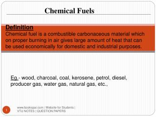 Chemical Fuels