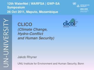 12th WaterNet | WARFSA | GWP-SA Symposium 26 Oct 2011, Maputo, Mozambique