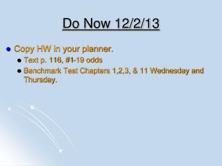 Do Now 12/2/13