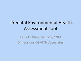 Prenatal Environmental Health Assessment Tool