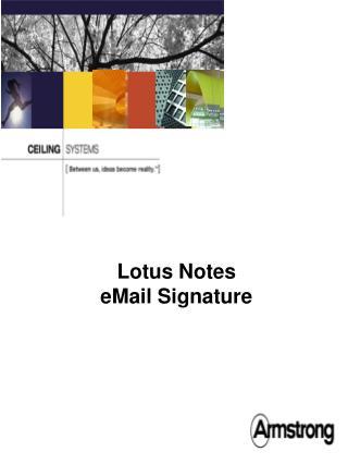 Lotus Notes eMail Signature