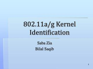 802.11a/g Kernel Identification