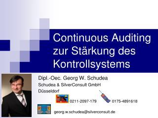 Continuous Auditing zur Stärkung des Kontrollsystems