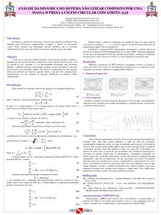 Metodologia  Neste trabalho foi utilizado o método das equações de Lagrange definidas por