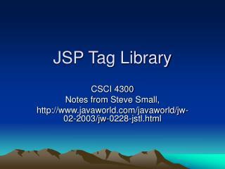 JSP Tag Library