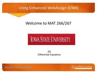 Using Enhanced WebAssign (EWA)