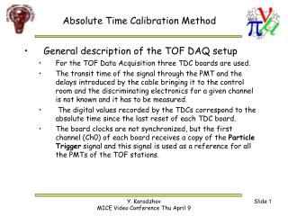 Absolute Time Calibration Method