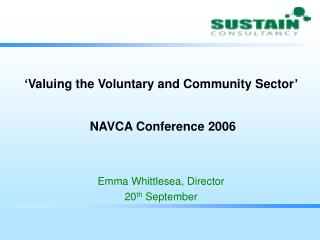 'Valuing the Voluntary and Community Sector' NAVCA Conference 2006