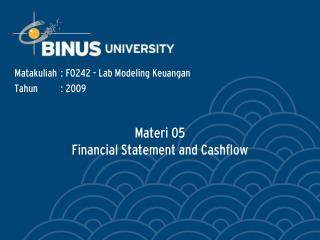 Materi 05 Financial Statement and Cashflow