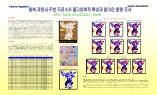 충북 제천시 주변 지표수의 물리화학적 특성과 음이온 함량 조사