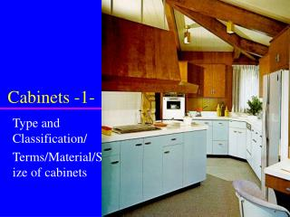 Cabinets -1-