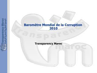 Baromètre Mondial de la Corruption 2010