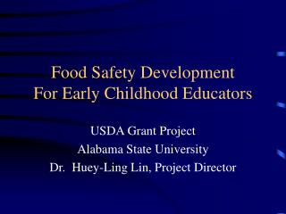 Food Safety Development For Early Childhood Educators