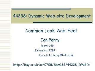 44238: Dynamic Web-site Development