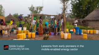 Lessons from early pioneers in the mobile-enabled energy sector