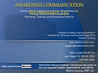 AwareComm support@awarecomm 3651 Lindell Rd #D114 Las Vegas, NV 89103-1254