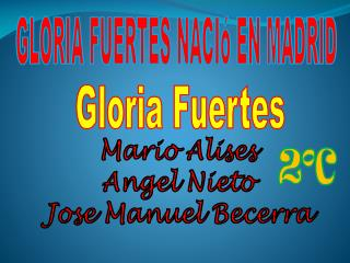 GLORIA FUERTES  NACIó EN MADRID