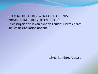 Elvia Jiménez Castro