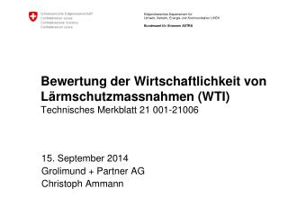 15.  September 2014 Grolimund  + Partner AG Christoph Ammann