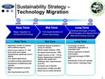 Sustainability Strategy   Technology Migration