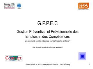 G.P.P.E.C Gestion Préventive et Prévisionnelle des Emplois et des Compétences