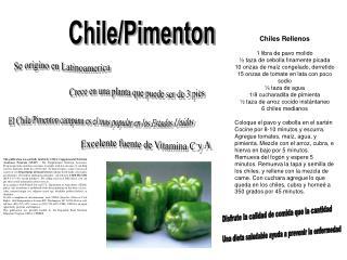 Chile/Pimenton