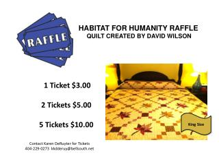 HABITAT FOR HUMANITY RAFFLE QUILT CREATED BY DAVID WILSON