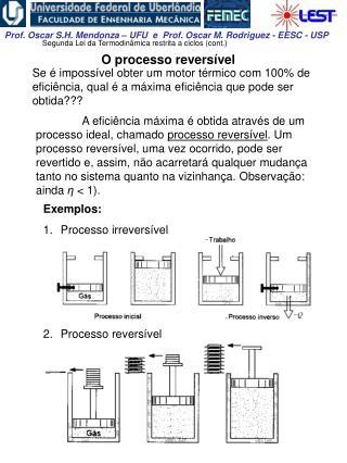 O processo reversível