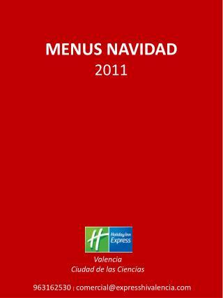 MENUS NAVIDAD 2011