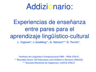 Addizi o nario: Experiencias de enseñanza entre pares para el aprendizaje lingüístico-cultural