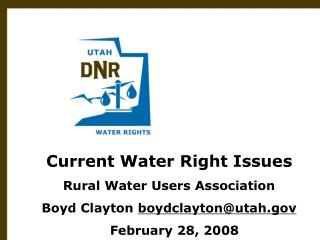 Utah Division of Water Rights