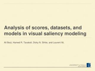 Analysis of scores, datasets, and models in visual saliency modeling