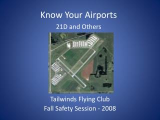 Tailwinds Flying Club Fall Safety Session - 2008