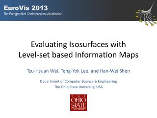 Evaluating I sosurfaces with Level-set b ased I nformation M aps
