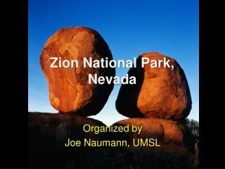 Zion National Park, Nevada