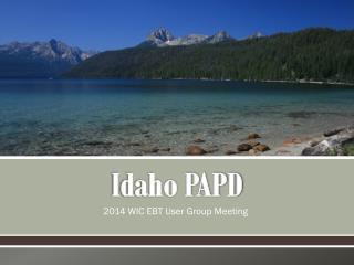Idaho PAPD