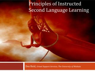 Principles of Instructed Second Language Learning