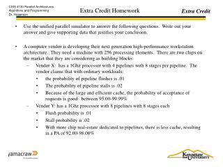 Extra Credit Homework